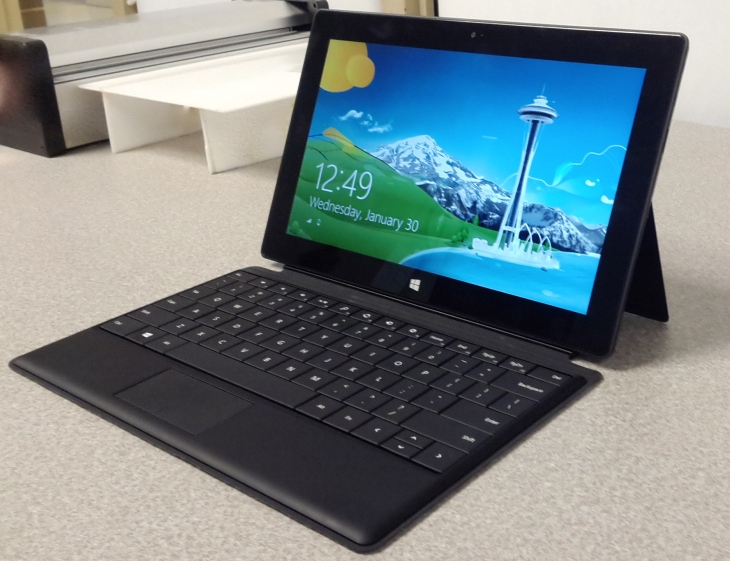Picture of our test Ms Surface